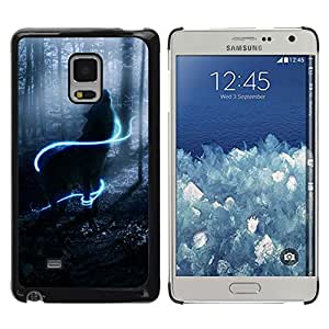 Design for Girls Plastic Cover Case FOR Samsung Galaxy Mega 5.8 Howl Wolf Neon Mystical Mist Nature OBBA