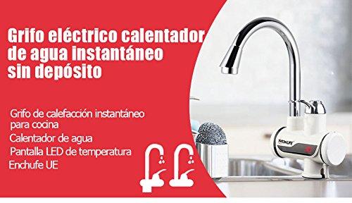 GRIFO CALENTADOR ELÉCTRICO SIN DEPÓSITO DE AGUA | ALTA POTENCIA 3000W | DIGITAL: Amazon.es: Hogar