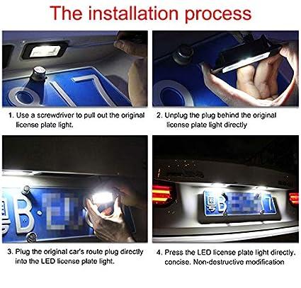1 par de luces LED de repuesto para E81//E87//E86//E85//E63//E63N//E64//E64N