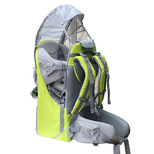 - New Baby Toddler Hiking Backpack Carrier Stand Child Kid Sunshade Visor Shield Shield (green)