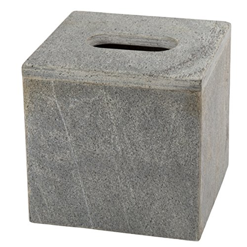 - Creative Home 74771 Genuine Slate Stone Tissue Box Cover, Holder,
