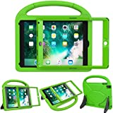 LEDNICEKER Kids Case for New iPad 9.7 2018/2017 - Built-in Screen Protector Light Weight Shock Proof Handle Friendly Convertible Stand Kids Case for New iPad 9.7 2017/2018 (ipad 5&6) -Green