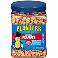 Planters Salted Cocktail Peanuts, 35 oz. Resealable Jar - Heart Healthy Salted Peanuts - A Good Source of Essential Nutrients - Made with Simple Ingredients - Kosher (KFT-041)