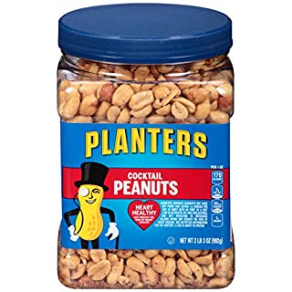 Planters Salted Cocktail Peanuts, 35 ounce Resealable Jar - Heart Healthy Salted Peanuts - A Good Source of Essential Nutrients - Made with Simple Ingredients - Kosher