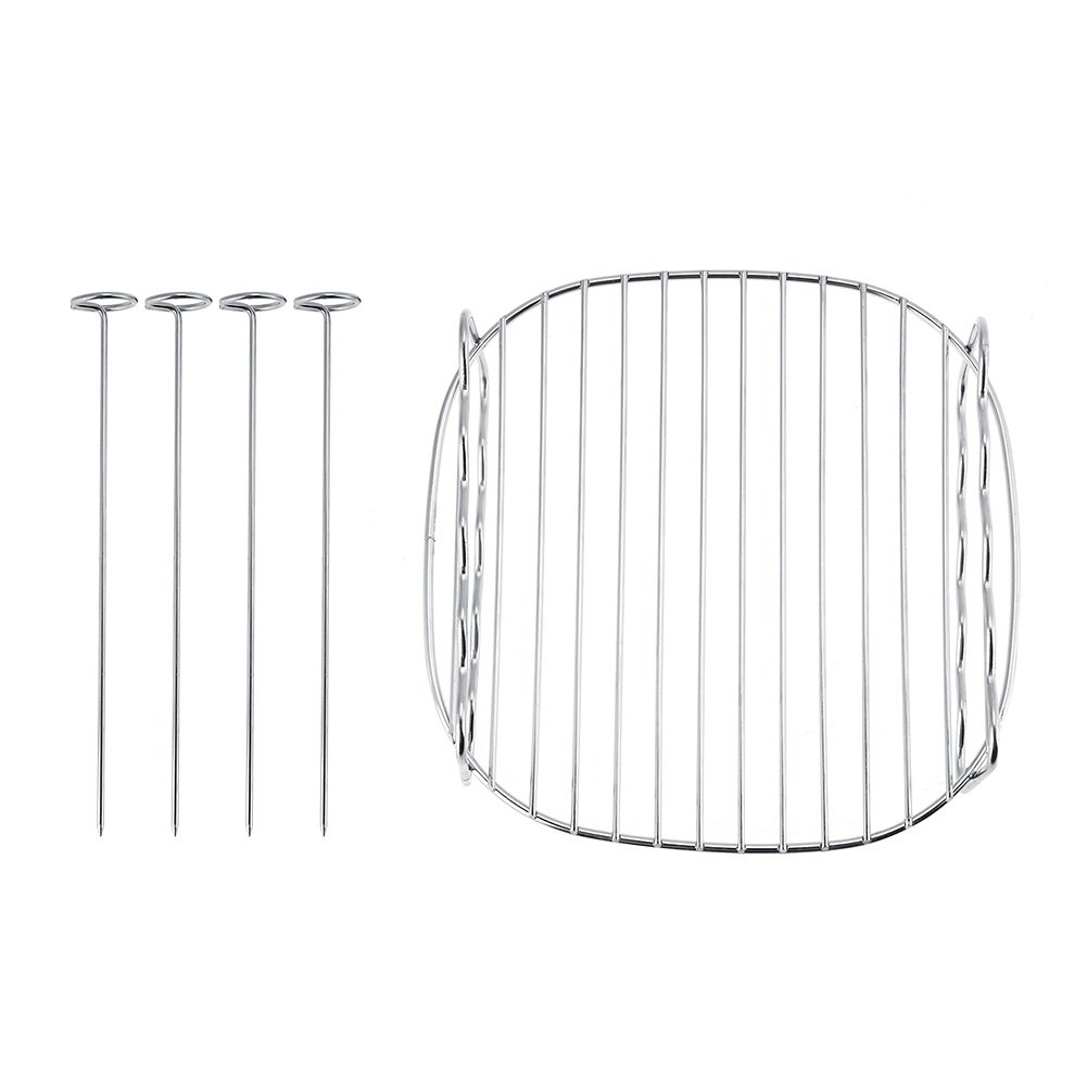 Air Fryer Double Layer Rack, Kitchen Accessory Replacement BBQ Rack Double Layer Skewers Baking Tray for Philips Air Fryer GLOGLOW