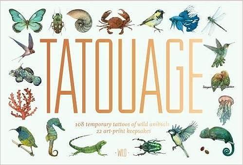 Tatouage Wild 108 Temporary Tattoos Of Wild Animals And 21 Art