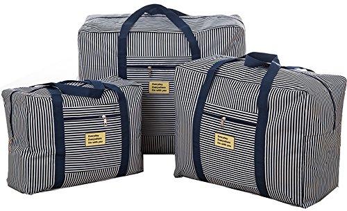 Foldable Duffel Bag 3 Set Waterproof Lightweight Travel Luggage Bag Clothes Storage