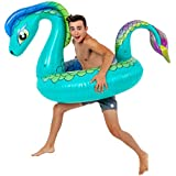 TCP Global Sundaze Floats Nessie Giant 5 Foot Inflatable Sea Monster Pool Ring Float - Fun Kids Swim Party Toy - Summer Lounge Raft