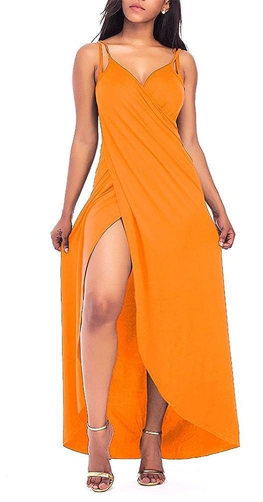 Janestone Women Plus Size Beach Dress Spaghetti Strap Backless V Neck  Bikini Cover up Hat cec27a4179de