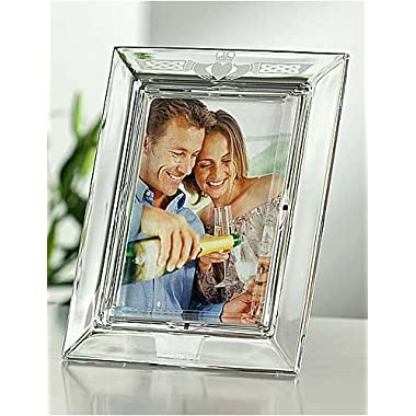 The CLADDAUGH Fine Crystal LOVE Frame by Galway® for Belleek® of Ireland - 5x7