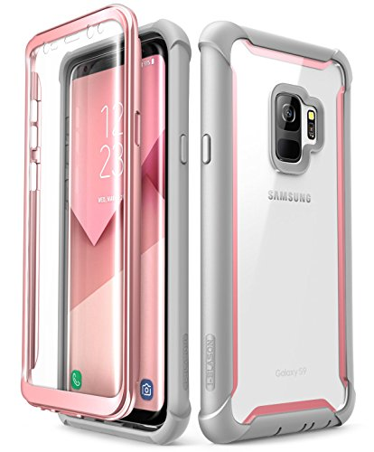 Samsung Galaxy S9 case, i-Blason [Ares] Full-body Rugged Clear Bumper Case with...