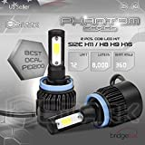 New Super Bright COB LED Chip 8000LM Headlight Conversion Kit - Cool White 6000K 6K - Low Beam/ High Beam/ Fog Light Bulbs - H8 / H9 / H11 / H16 (TYPE2)