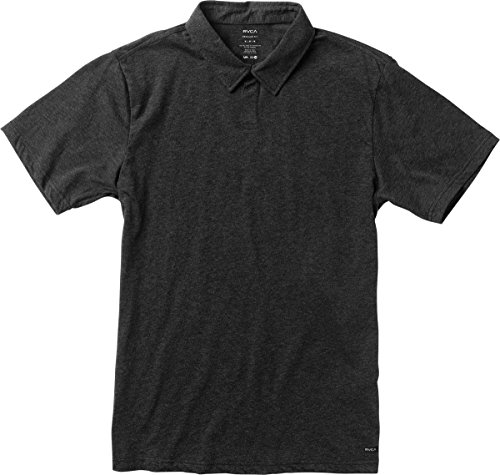 rvca-mens-sure-thing-ii-polo-shirt-charcoal-heather-large