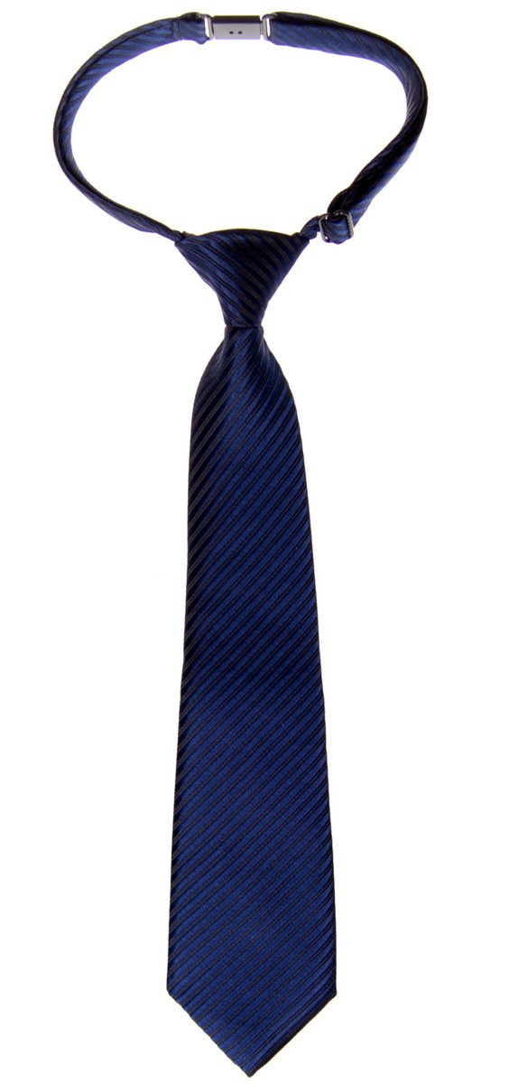 Retreez Woven Pre-tied Boy's Tie with Stripe Textured - Navy Blue - 4-7 years