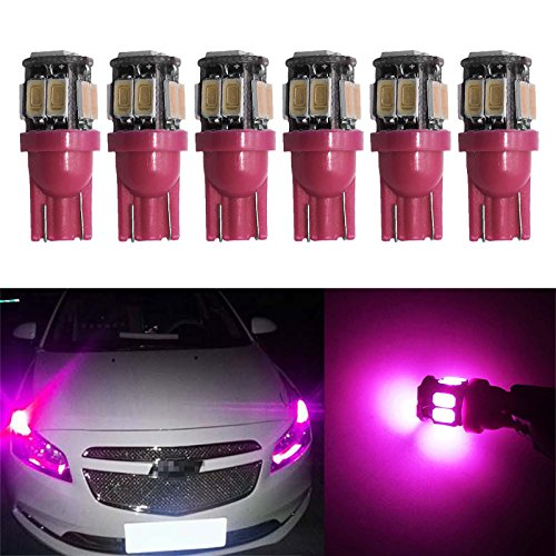 Pack of 4 Kashine T10 W5W 194 168 501 LED Car Light Bulb 3SMD 3030 Canbus Error Free Wedge LED Bulbs Super Bright White for Car Interior Dome Map Door Courtesy License Plate Lights 12V