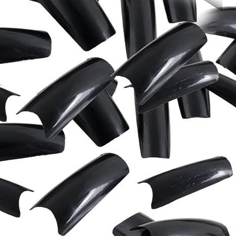 500pza Uñas postizas falsa artificial p pedicura negras: Amazon.es: Salud y cuidado personal