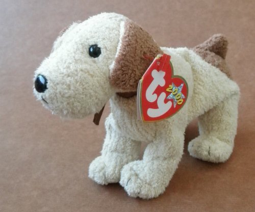 Rufus Dog - TY Beanie Babies Rufus the Dog Stuffed Animal Plush Toy - 7 inches long