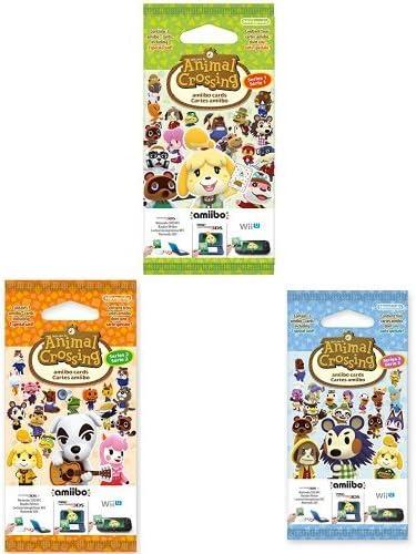 Triple pack de 3 tarjetas Amiibo Animal Crossing (Nintendo 3DS) Series 1, 2 y 3: Amazon.es: Videojuegos