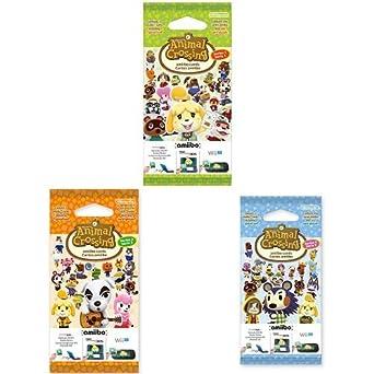 Triple pack de 3 tarjetas Amiibo Animal Crossing (Nintendo ...