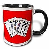 3dRose ''Poker Four Of A Kind Aces Popular Image Best Seller'' Mug, 11 oz, Black/Red