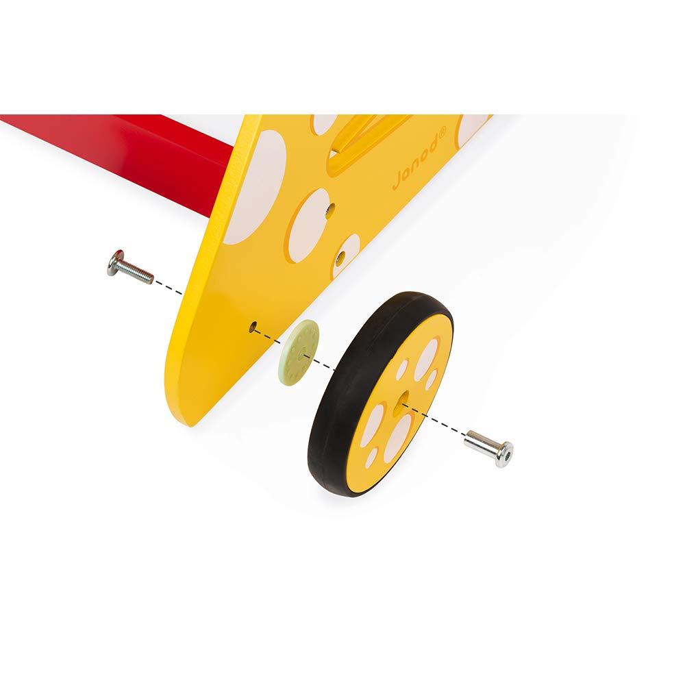 mehrfarbig Holz Janod J08005 Laufwagen Katze Multi-Activity