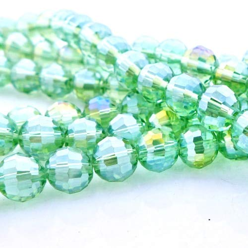 Calvas Wholesale 6/8/10mm hot Sale Top Quality 5003 Disco Ball Crystal Glass Beads Basic Color AB New Arrival-2 - (Color: AB418apple Green AB, Item Diameter: 8mm 350pcs per lot)