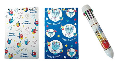 Hanukkah 10 Color Pen and Sketch Pad (Hanukkah Pen)