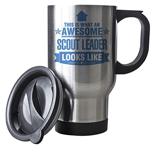 BLUE This is what an AWESOME Scout Leader Looks like SILVER Mug - Gift idea work Duke Gifts