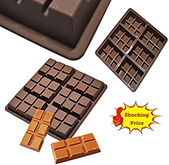 6-Cell Medium Chocolate Bar Candy Mold Professional Kitchen Silicone Cake Mould