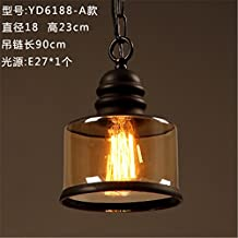 ShengYe Rustic Style Ceiling Pendant Lamp Chandelier tea bar chandelier Chandelier restaurant cafe lounge studio hanging chandelier in the middle of the road corridor.