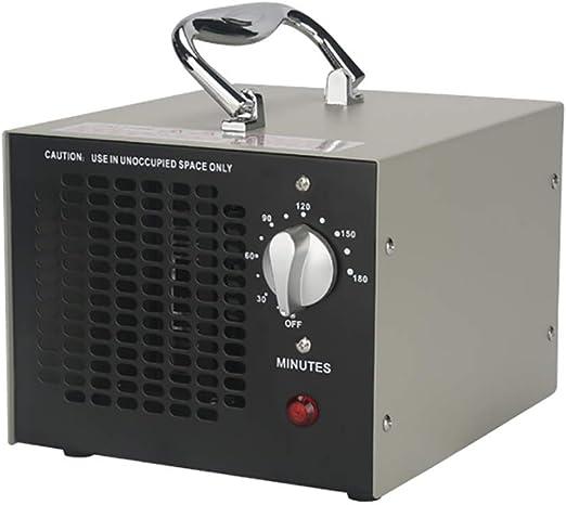 Oz3 4000 MG/h Generador de ozono Purificador de Aire O3 Comercial Máquina de ozono Industrial Desodorizador de Servicio Pesado Esterilizador Limpiador de Aire para Habitaciones, automóviles,Negro: Amazon.es: Hogar