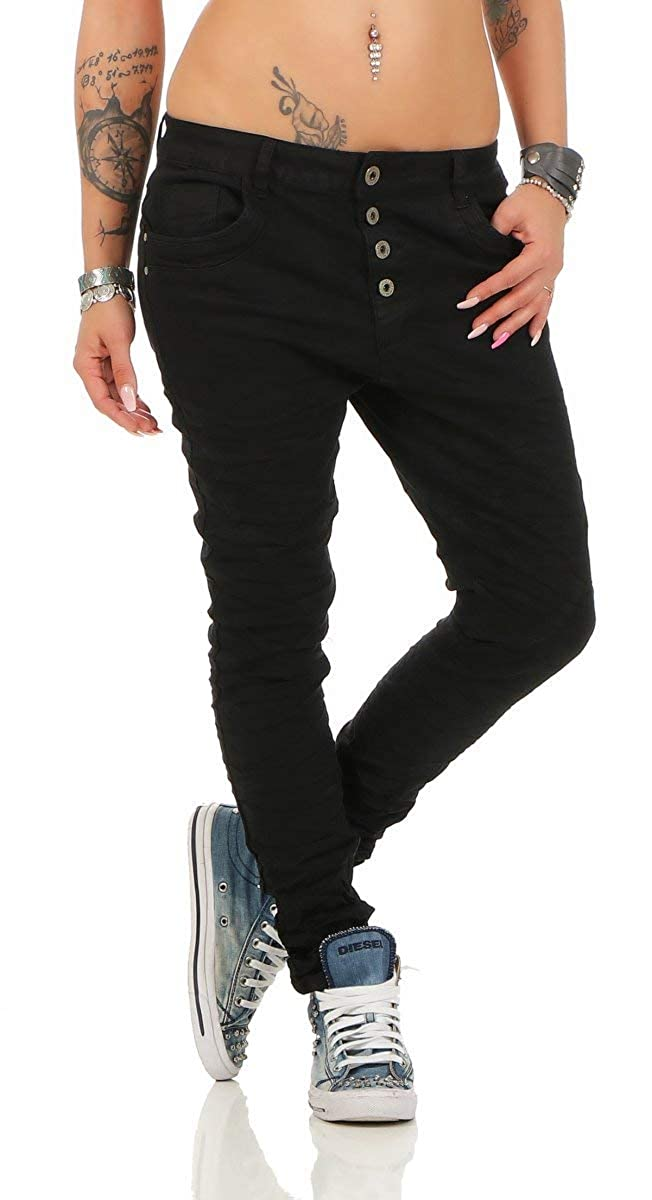ba1a5b7ac150dc Lexxury 10118 Knackige Damen Jeans Röhrenjeans Hose Boyfriend Style ...