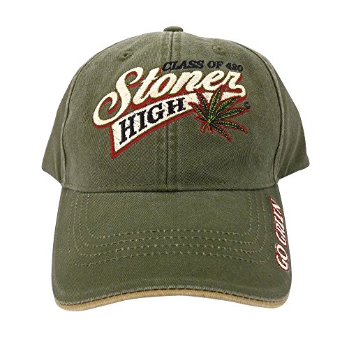 Class-of-420-Stoner-High-Marijuana-Leaf-Baseball-Cap-Hat-One-Size-Green