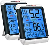 ThermoPro TP55 2 Pieces Digital Hygrometer Indoor