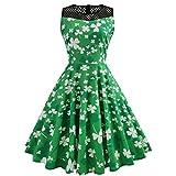 ST. Patricks Day Dresses Women Sleeveless Hollow out Green Mini Dress GiftSPECIFICATIONS: Size: S: Length:98cm, Bust:90cm,Shoulder34cm, Waist:66cmM: Length:99cm, Bust:94cm,Shoulder35cm, Waist:70cmL: Length:100cm,Bust:98cm,Shoulder36cm, Waist:...