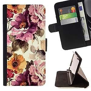 Momo Phone Case / Flip Funda de Cuero Case Cover - Vintage Vignette Sol - LG G4