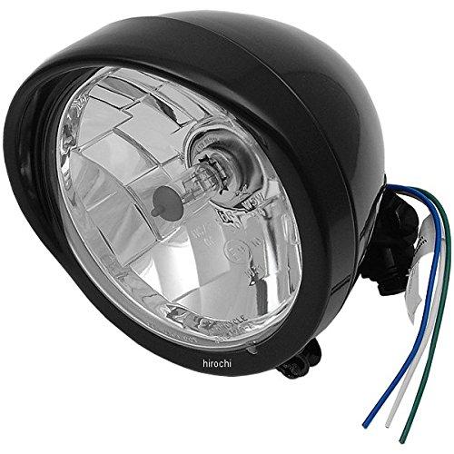 DRAG ヘッドライト 5.75インチ H4 バイザー クリアレンズ/グロスブラック 2001-0551 B01LYZG9RL