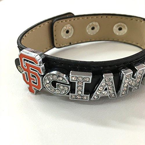 SF Giants rhinestone baseball bracelet/baseball fans/.