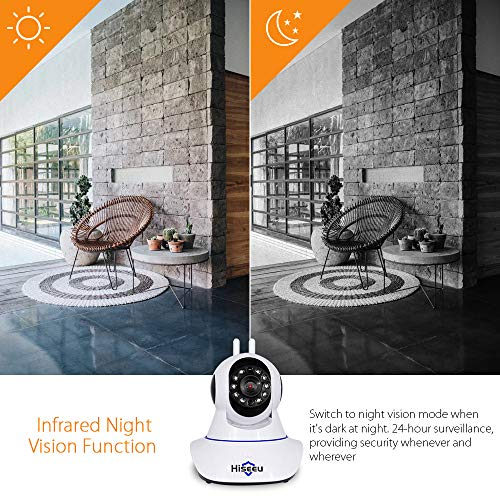 Hiseeu 1536P 3MP Security Camera WiFi Dome Camera Wireless Indoor Security Camera with 2-Way Audio,Night Vision,Motion…