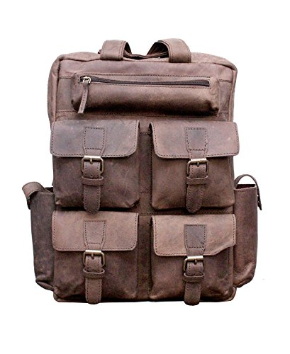 Handcrafted exports Vintage Buffalo Leather Rustic Laptop Messenger Shoulder Bag. by Handcrafted exports