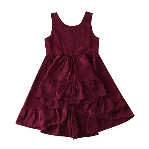 8af475ea6e891 enhill Toddler Kids Baby Girls Velvet Sleeveless Princess Birthday Party  Dresses for 1-6 Years
