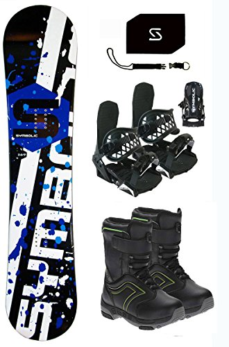 Symbolic Chopper Snowboard & Bindings & Boots & Leash & Stomp & Burton Decal Package