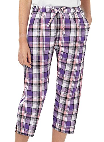 Carol Wright Gifts Plaid Capri, Purple, Size (Madras Style Plaid Pants)