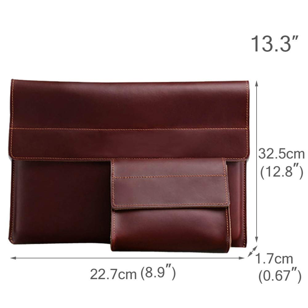 11/′/′12/′/′13.3/′/′ 15.4/′/′ LXIANGP Notebook Liner Bag Retro Business Clutch Bag Magnetic Buckle Computer Bag Leather Waterproof Anti-Vibration Tablet Protection Cover 2 Sets of Students to Work to Use