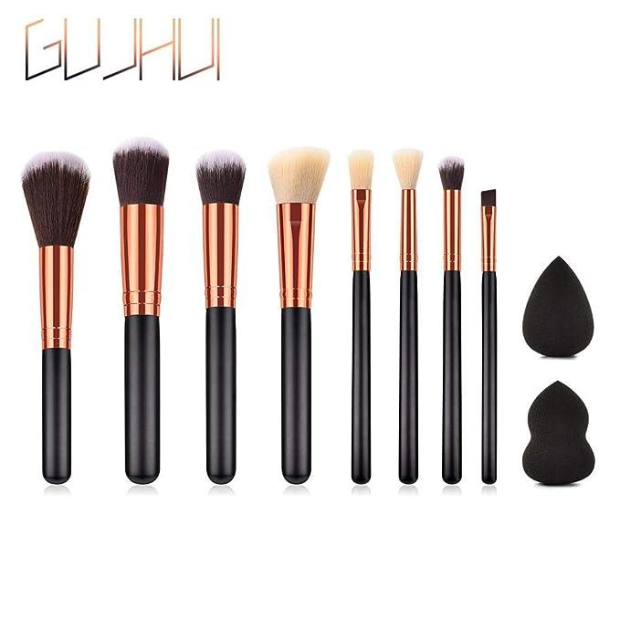 Amazon.com: Juego de brochas de maquillaje UMFun Top Brochas ...