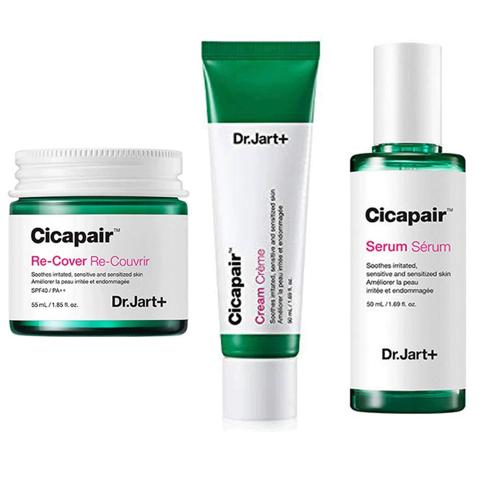 Dr.Jart+ Cicapair Cream + ReCover + Serum ドクタージャルトシカペアクリーム50ml + リカバー 55ml + セラム 50ml(2代目) セット [並行輸入品] B07THMFP8M