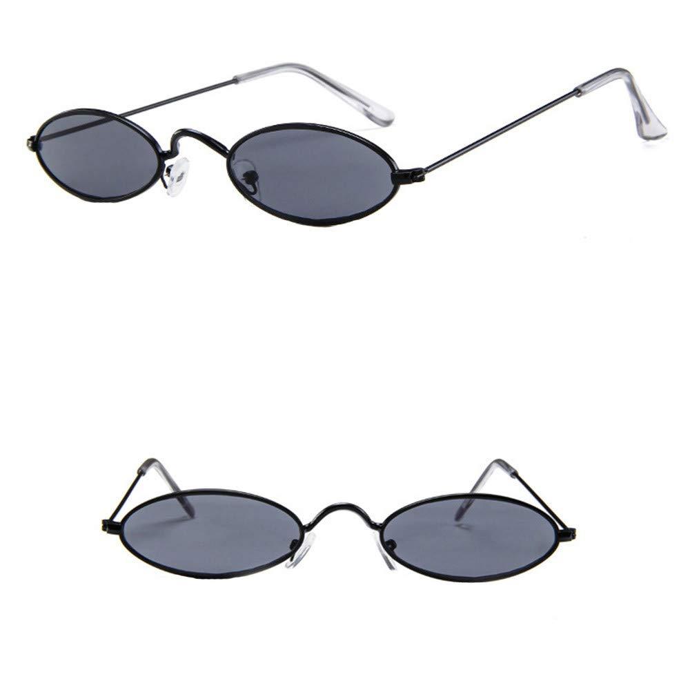 Diadia Small Frame Skinny Cat Eye Sunglasses for Women Colorful Mini Narrow Square Retro Cateye Vintage Sunglasses (H)