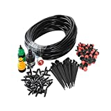 Plant Irrigation Misting System, DIY Automatic Drip Irrigation Set Garden Plants Watering Hose Fittings for Outdoor Garden Green House Flower Lawn Using (10m)