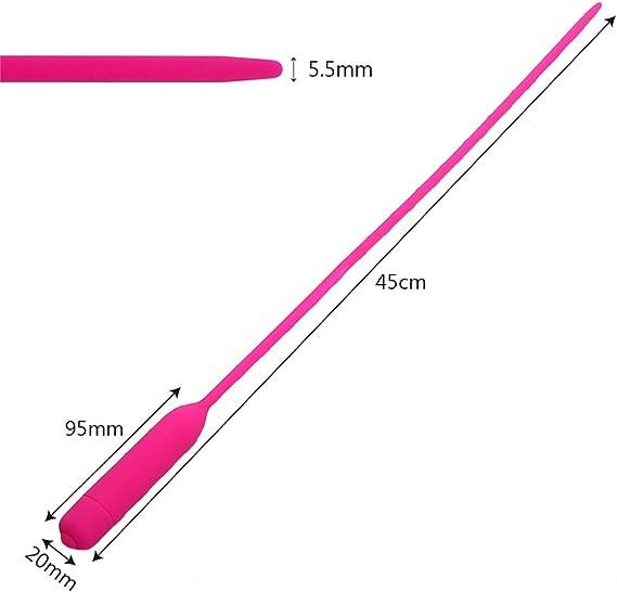 Dilatador de silicona extra largo de 45 cm: vibrador de uretra ...