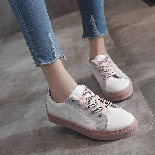 Women Shoes Beige Student Tie Junior Casual Loafers Vintage Board Espadrilles Canvas Flat Up Sneakers rTr6q